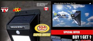 Miracle Brite Solar Powered Stick Up LED Light